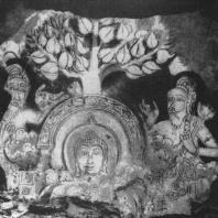 68. Роспись реликварной камеры в Махиянганадагабе. XI в.