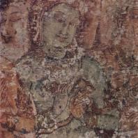 69. Роспись храма Тиванка в Полоннаруве. Фрагмент. XII в.