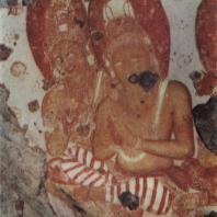 70. Роспись скального грота в Пулигода-Галге близ Димбулагалы. Фрагмент. XII в.
