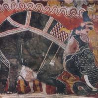 71. Низвержение Мары Буддой. Роспись пещерного храма в Дам- булле. XVIII в.