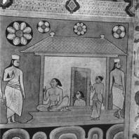 75. Роспись храма в Медавале. Фрагмент. XVIII в.