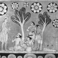 76. Роспись храма в Медавале. Фрагмент