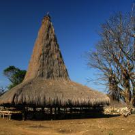 Индонезия, Западная Нуса-Тенгара, традиционный жилой дом sumba