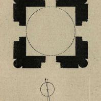 Узбекистан. Бухара. Мавзолей Саманидов IX в. План.